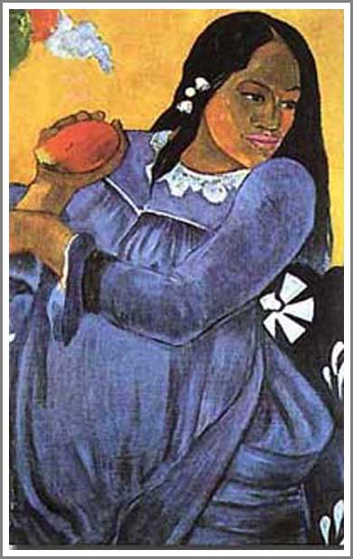 絵画(油絵複製画)制作 ポール・ゴーギャン「マンゴーを持った女」