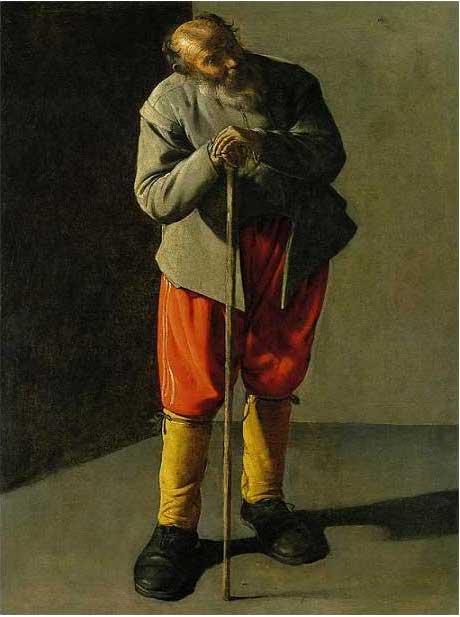 絵画(油絵複製画)制作 ジョルジュ・ド・ラトゥール「老人」