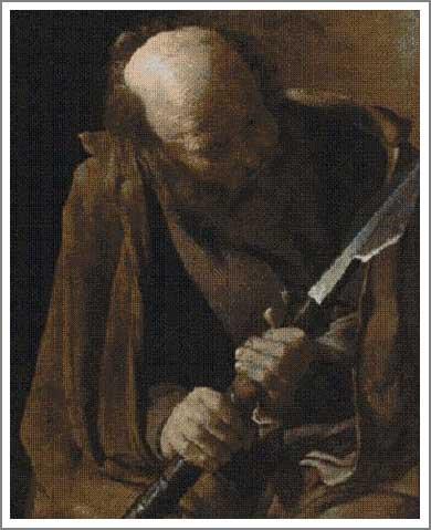 絵画(油絵複製画)制作 ジョルジュ・ド・ラトゥール「聖トマス」