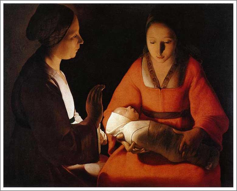 絵画(油絵複製画)制作 ジョルジュ・ド・ラトゥール「生誕」