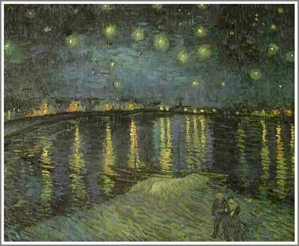 絵画(油絵複製画)制作 フィンセント・ファン・ゴッホ「ローヌ河の月明かり」