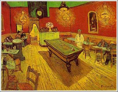 絵画(油絵複製画)制作 フィンセント・ファン・ゴッホ「夜のカフェ」