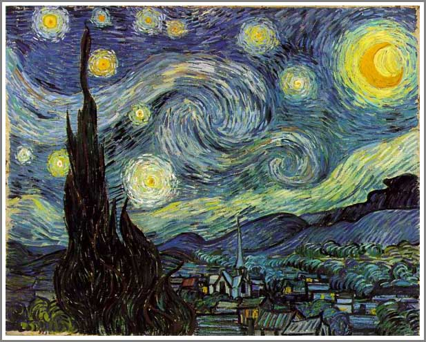 絵画(油絵複製画)制作 フィンセント・ファン・ゴッホ「星月夜」