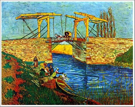 絵画(油絵複製画)制作 フィンセント・ファン・ゴッホ「アルルのはね橋」
