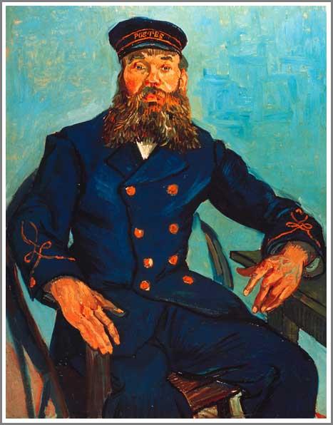 絵画(油絵複製画)制作 フィンセント・ファン・ゴッホ「イスに座るジョセフ・ルーラン 」