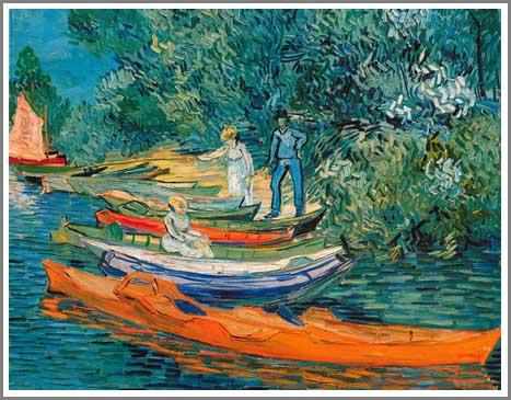 絵画(油絵複製画)制作 フィンセント・ファン・ゴッホ「オワーズ川岸」