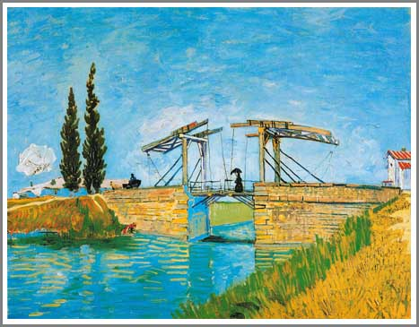 絵画(油絵複製画)制作 フィンセント・ファン・ゴッホ「ラングロワ橋」