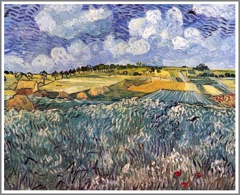 絵画(油絵複製画)制作 フィンセント・ファン・ゴッホ「雨雲のあるオーヴェールの野」
