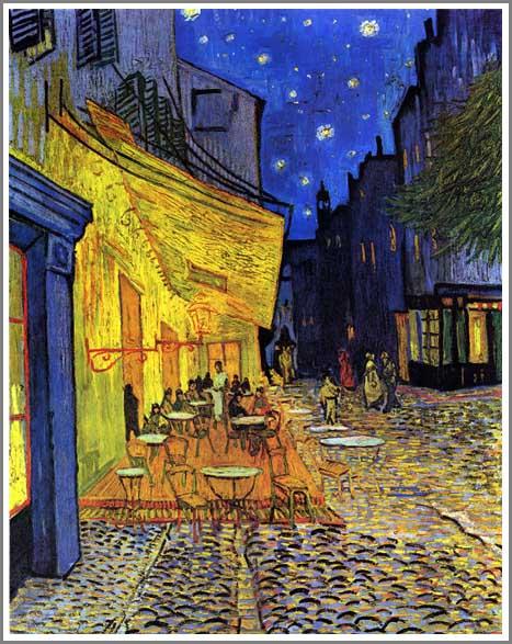 絵画(油絵複製画)制作 ゴッホ「夜のカフェテラス」