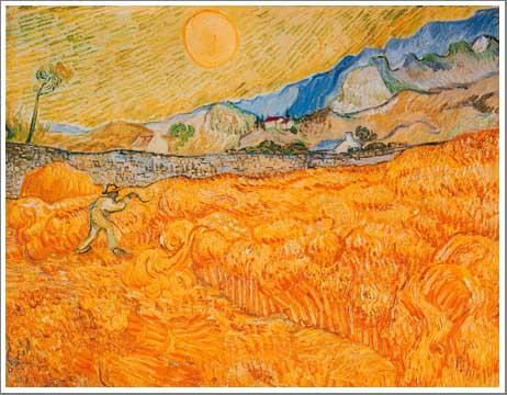 絵画(油絵複製画)制作 フィンセント・ファン・ゴッホ「収穫」
