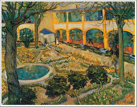 絵画(油絵複製画)制作 フィンセント・ファン・ゴッホ「療養院の中庭」