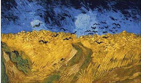 絵画(油絵複製画)制作 フィンセント・ファン・ゴッホ「カラスのいる小麦畑」