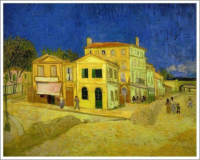 絵画(油絵複製画)制作 フィンセント・ファン・ゴッホ「黄色い家」