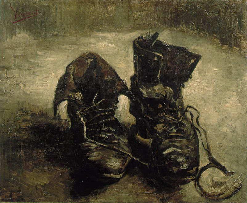 絵画(油絵複製画)制作 フィンセント・ファン・ゴッホ「古靴」