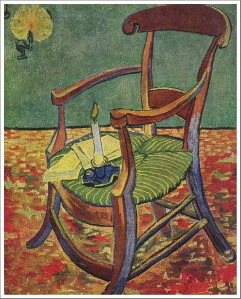 絵画(油絵複製画)制作 フィンセント・ファン・ゴッホ「ゴーギャンの肘掛け椅子」