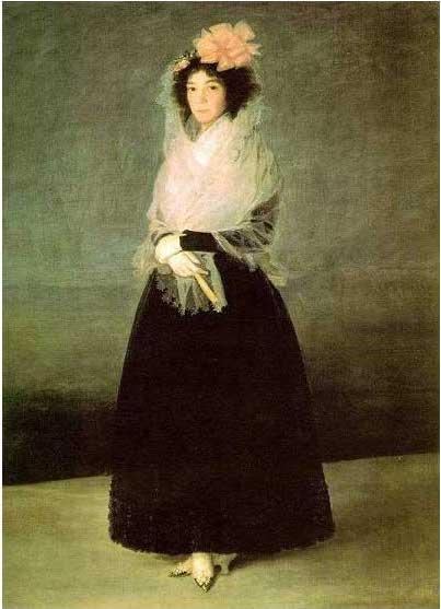 絵画(油絵複製画)制作 フランシスコ・デ・ゴヤ「ラ・ソラーナ女侯爵」