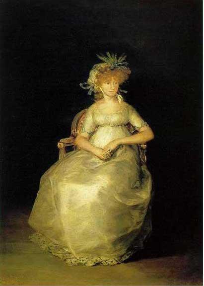 絵画(油絵複製画)制作 フランシスコ・デ・ゴヤ「チンチョン女伯爵」