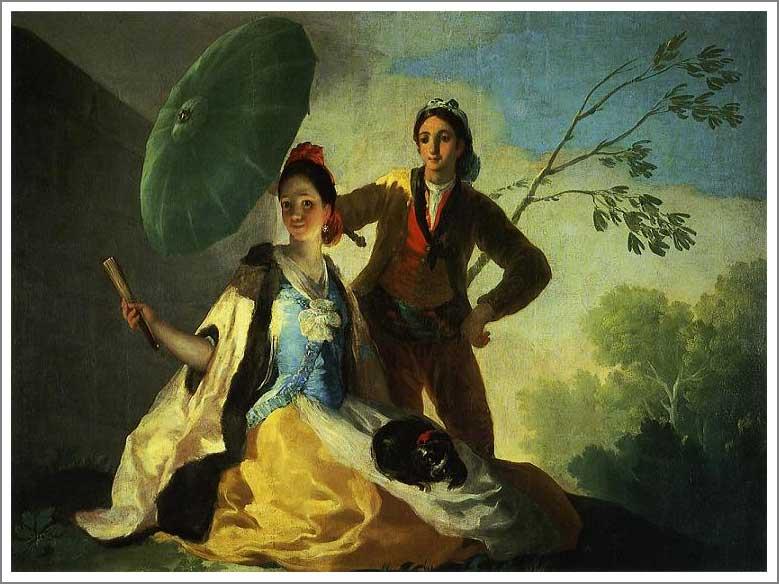 絵画(油絵複製画)制作 フランシスコ・デ・ゴヤ「日傘」