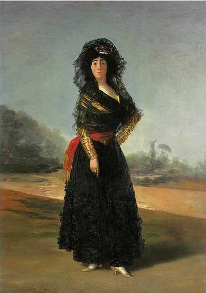 絵画(油絵複製画)制作 フランシスコ・デ・ゴヤ「黒衣のアルバ女公爵」