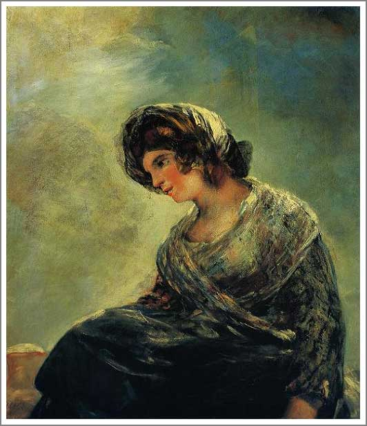絵画(油絵複製画)制作 フランシスコ・デ・ゴヤ「ボルドーのミルク売り娘」