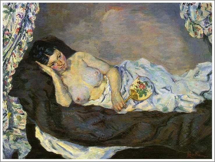 絵画(油絵複製画)制作 アルマン・ギヨマン「裸婦」