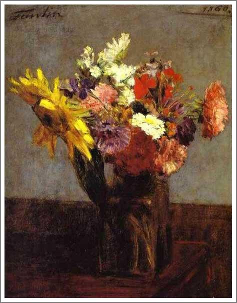 絵画(油絵複製画)制作 アンリ・ファンタン=ラトゥール「花」