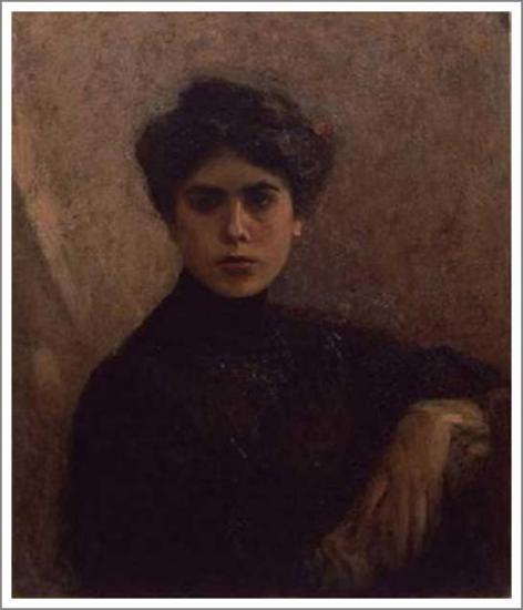 絵画(油絵複製画)制作 藤島武二「イタリア婦人像」