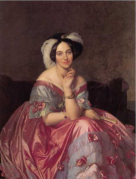 絵画(油絵複製画)制作 ドミニク・アングル「ジェイムス・ロスチャイルド伯爵夫人」