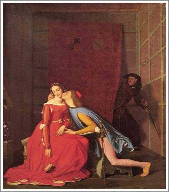 絵画(油絵複製画)制作 ルイ・ダヴィッド「パオロとフランチェスカを発見するジャンチョット」