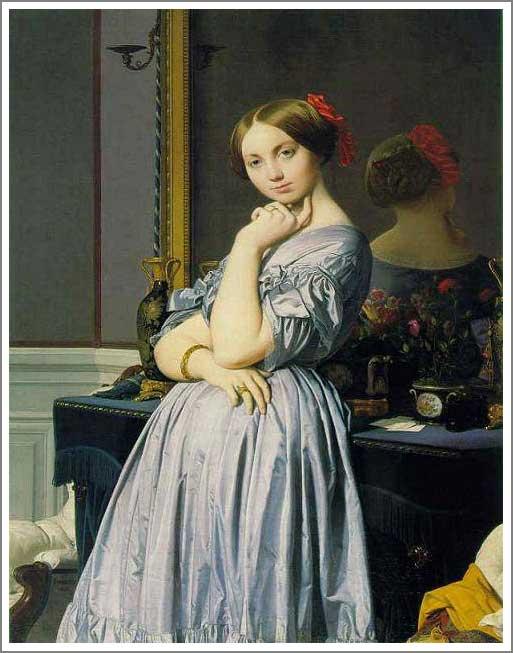 絵画(油絵複製画)制作 ドミニク・アングル「ドーソンヴィル伯爵夫人」