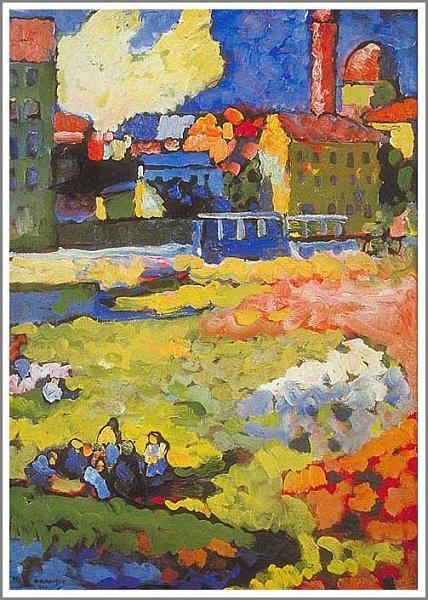 絵画(油絵複製画)制作 ワシリー・カンディンスキー「Munich Shwabing」