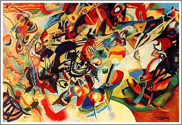 絵画(油絵複製画)制作 ワシリー・カンディンスキー「Composition VII」