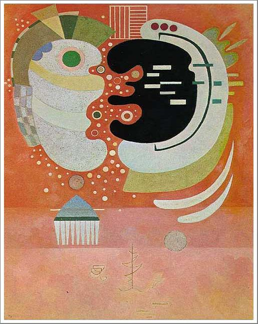 絵画(油絵複製画)制作 ワシリー・カンディンスキー「二つの間」