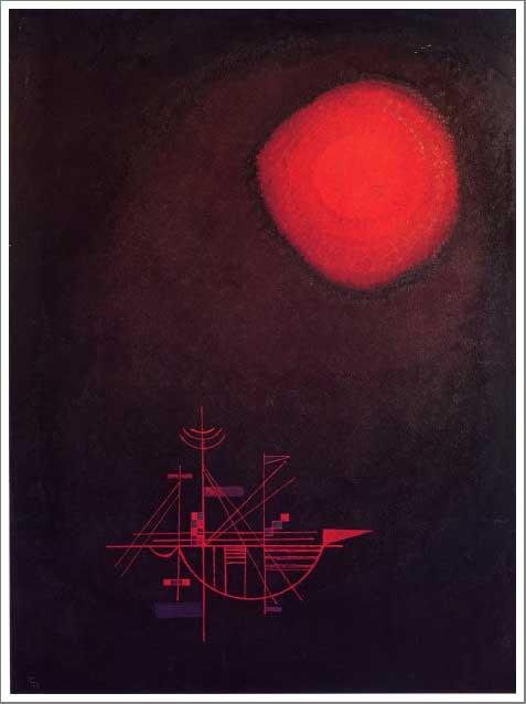 絵画(油絵複製画)制作 ワシリー・カンディンスキー「一つの斑点」