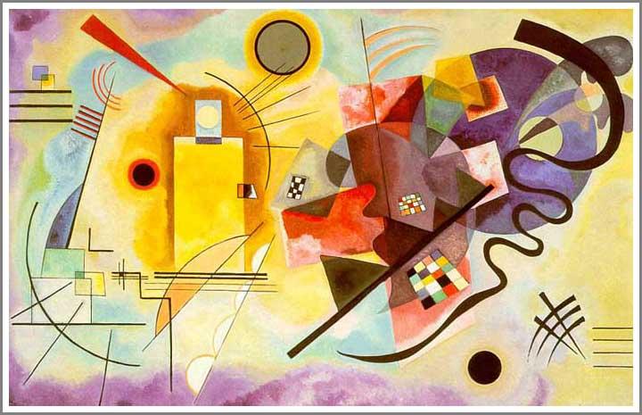 絵画(油絵複製画)制作 ワシリー・カンディンスキー「Yellow-Red-Blue」