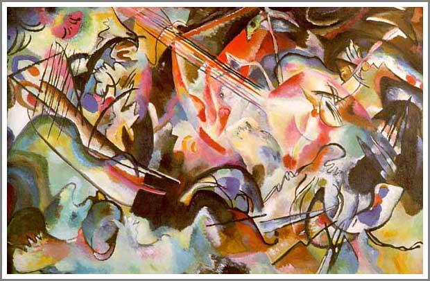 絵画(油絵複製画)制作 ワシリー・カンディンスキー「Composition VI」