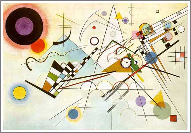 絵画(油絵複製画)制作 ワシリー・カンディンスキー「Composition VIII」