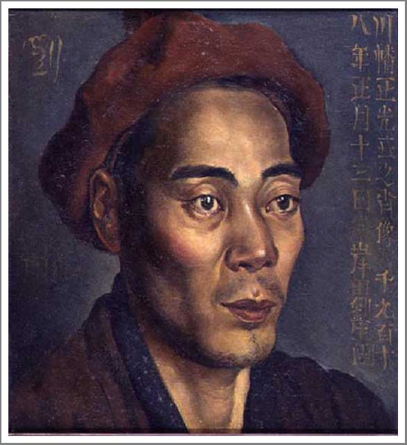 絵画(油絵複製画)制作 岸田劉生「川幡正光氏之肖像」