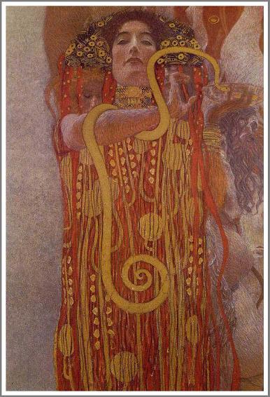 絵画(油絵複製画)制作 グスタフ・クリムト「ヒュギエイア」