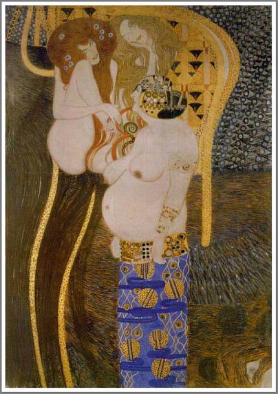 絵画(油絵複製画)制作 グスタフ・クリムト「ベートーベン・フリーズ」