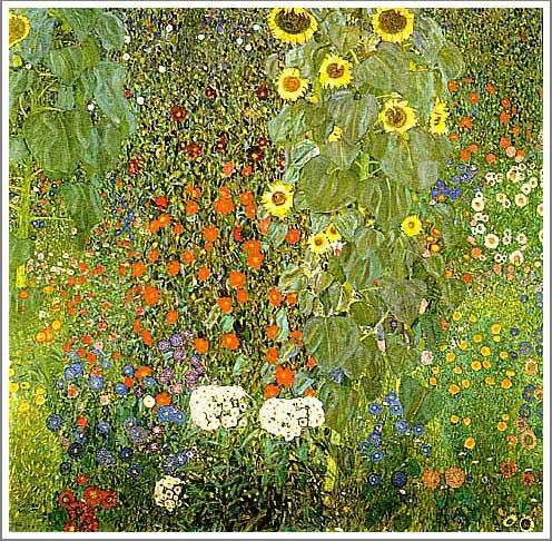 絵画(油絵複製画)制作 グスタフ・クリムト「ひまわりの咲く農家の庭」
