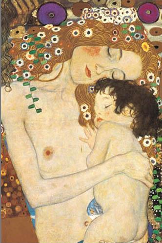 絵画(油絵複製画)制作 グスタフ・クリムト「母と子」