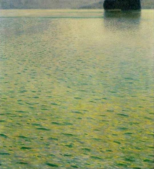 絵画(油絵複製画)制作 グスタフ・クリムト「アッター湖の島」