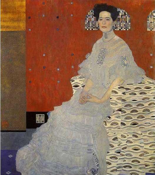 絵画(油絵複製画)制作 グスタフ・クリムト「フリッツァ・リードラーの肖像」