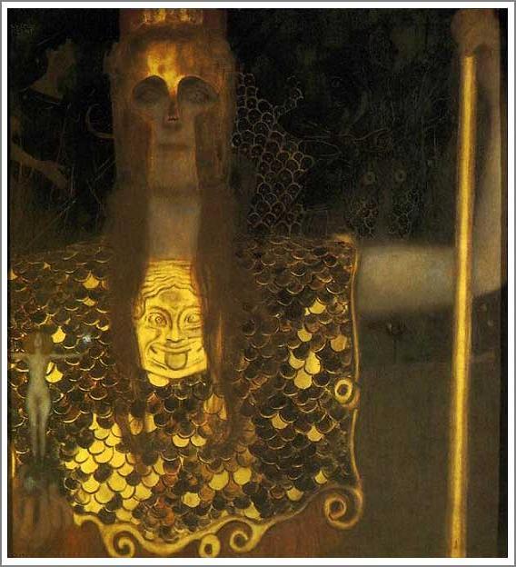 絵画(油絵複製画)制作 グスタフ・クリムト「パラス・アテネ」