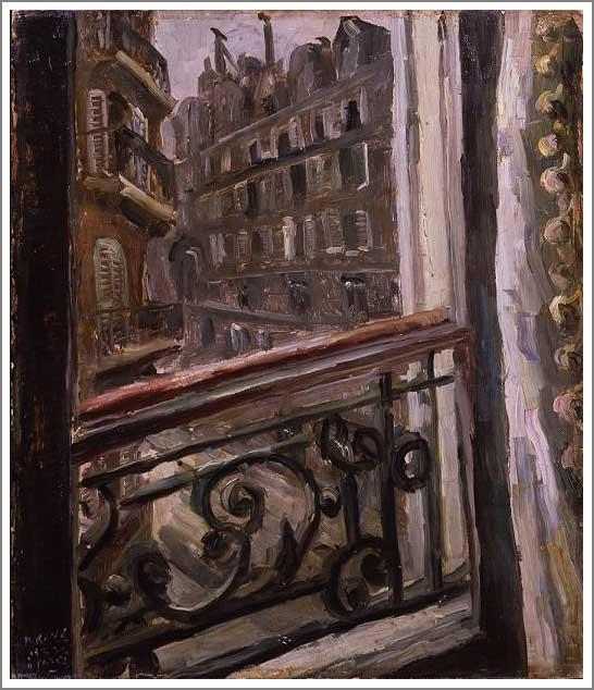 絵画(油絵複製画)制作 小出楢重「パリ・ソンムラールの宿」