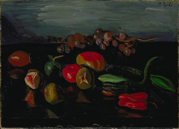 絵画(油絵複製画)制作 小出楢重「蔬菜静物」