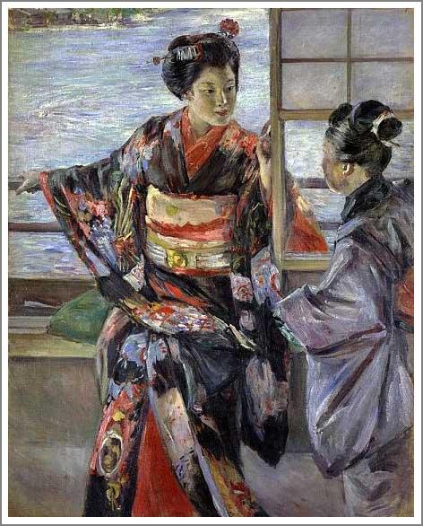 絵画(油絵複製画)制作 黒田清輝「舞妓」