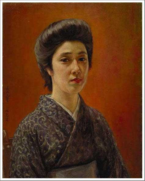絵画(油絵複製画)制作 黒田清輝「婦人肖像」