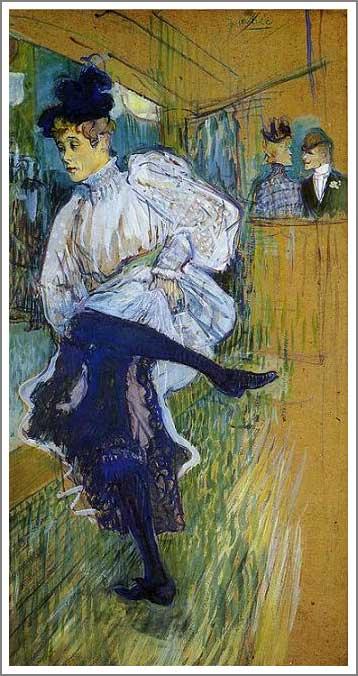 絵画(油絵複製画)制作 ロートレック「踊るジャンヌ・アヴリル」
